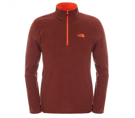 Polar The North Face M 100 Glacier 1/4 Zip Maro/Portocaliu