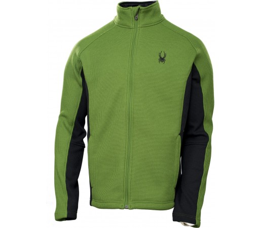 Midlayer Spyder Constant FZ Tailored Fit Verde/Negru
