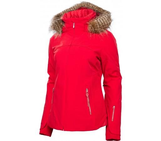 Geaca Schi si Snowboard Spyder Posh Faux Fur Rosu
