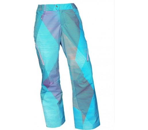 Pantaloni Schi si Snowboard Spyder Thrill Tailored Fit Linear Multi Print Albastru