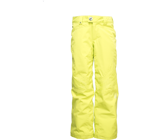 Pantaloni Schi si Snowboard Spyder Girl Thrill Tailored Fit Galben