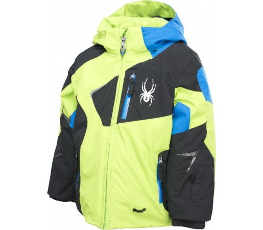 Geaca Schi si snowboard Spyder Mini Leader Lime/Black/Blue