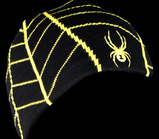 Caciula Spyder Web Negru/Galben