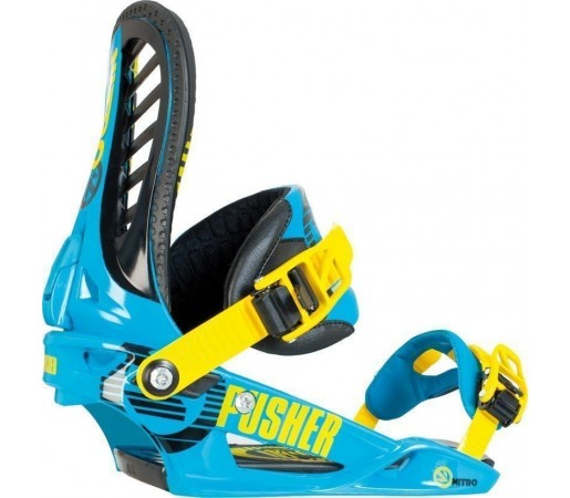 Legaturi Snowboard Nitro Pusher Albastru 2014