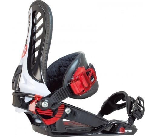 Legaturi Snowboard Nitro Pusher Rosu 2014