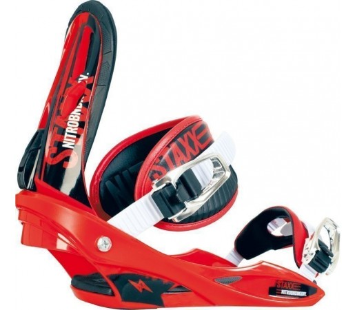 Legaturi Snowboard Nitro Staxx Rosu 2014