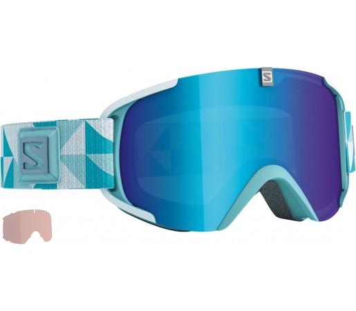 Ochelari de schi si snowboard Salomon X-View S + Xtra Lens Albastru