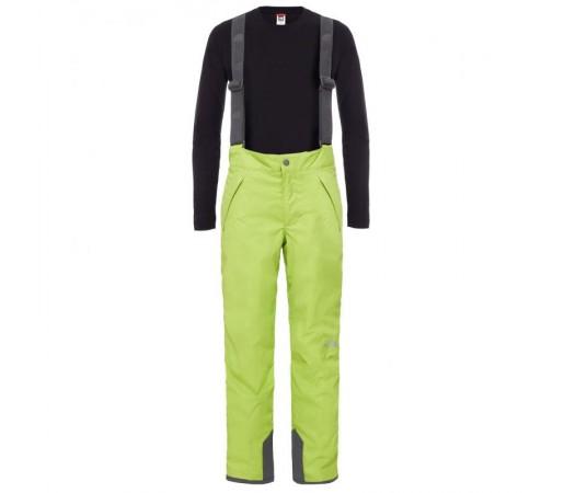 Pantaloni The North Face B Snowquest Suspender Verde