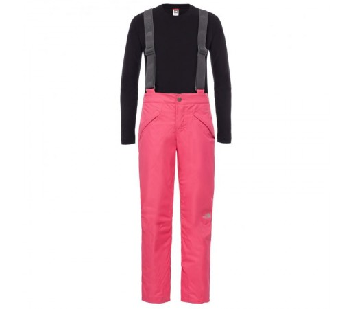 Pantaloni The North Face B Snowquest Suspender Roz