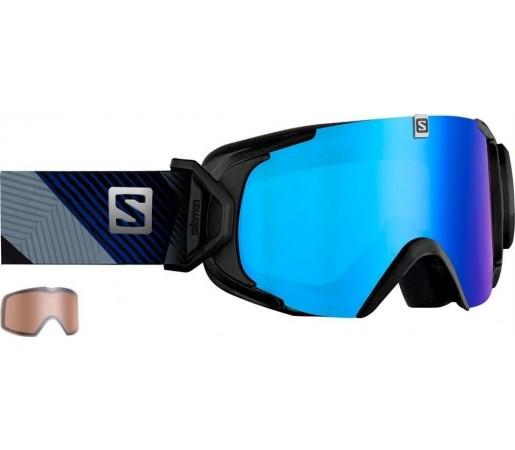 Ochelari Ski si Snowboard Salomon X-View Black/ Blue Solar