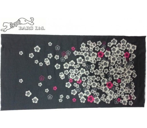 Neck Tube Bars Black Flower