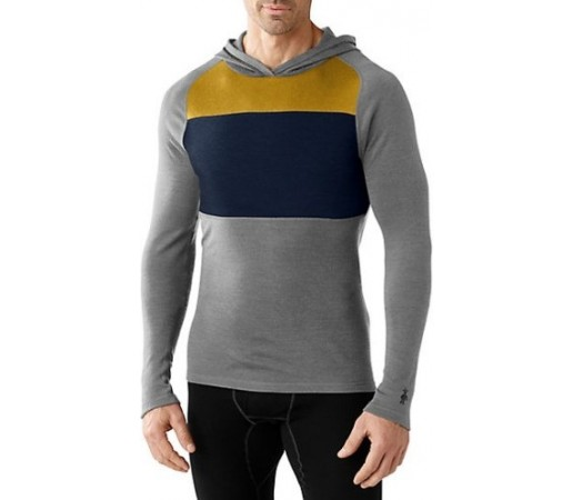 Bluza Corp Smartwool M NTS 250 Color Block Hoody Gri