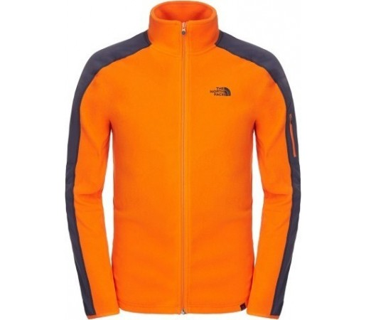 Bluza The North Face M Glacier Delta Fz Portocaliu