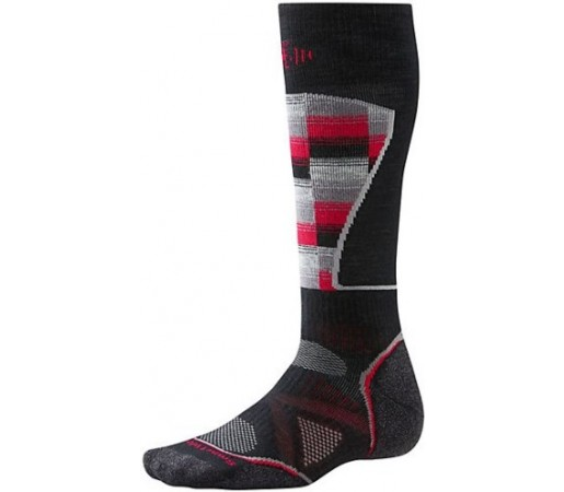 Sosete SmartWool PhD Ski Medium Pattern Socks Red/blk