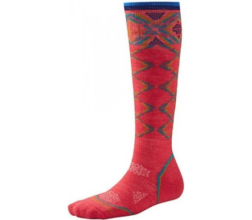 Sosete SmartWool W PHD Ski Light Pattern Red