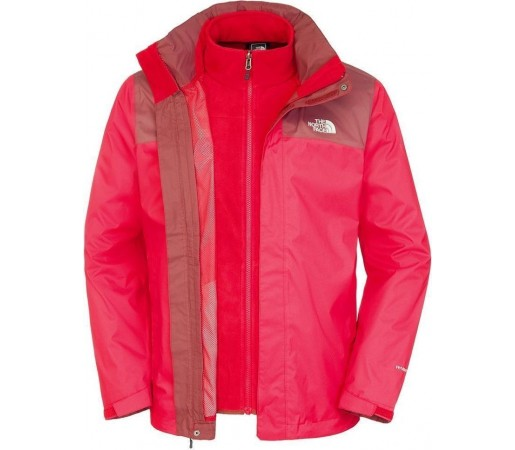 Geaca The North Face M Evolve II Triclimate Red/Brown