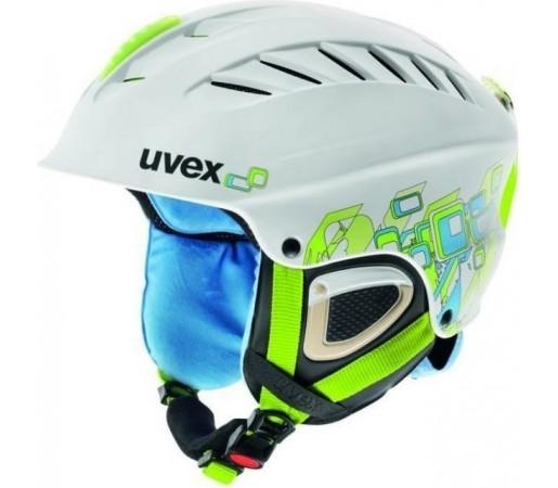Casca Schi si Snowboard Uvex X-Ride Motion Graphic Alb Verde