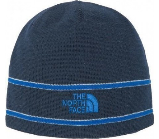 Caciula The North Face Logo Beanie Bleu
