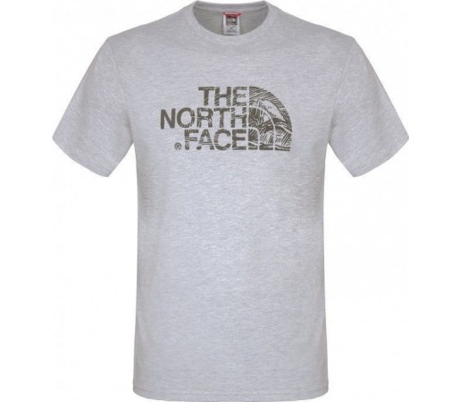 Tricou The North Face M S/S Woodcut Dome Gri
