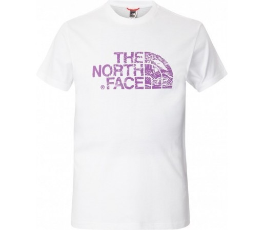 Tricou The North Face M S/S Woodcut Dome Alb