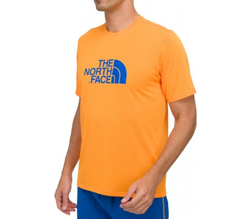 Tricou The North Face M S/S Graphic Reaxion Crew Portocaliu
