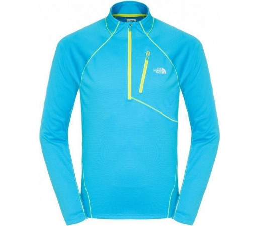 Bluza The North Face M Impulse Active 1/4 Zip Blue-Yellow
