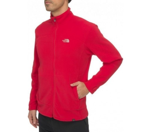 Bluza The North Face M 100 Glacier FZ Rosu