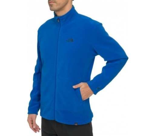 Bluza The North Face M 100 Glacier FZ Albastru