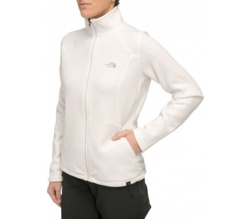 Bluza The North Face W 100 Glacier FZ Alb