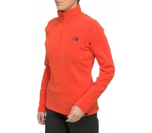Bluza The North Face W Glacier 1/4 Zip Portocaliu