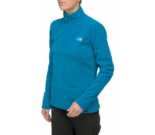 Bluza The North Face W 100 Glacier 1/4 Zip Albastru