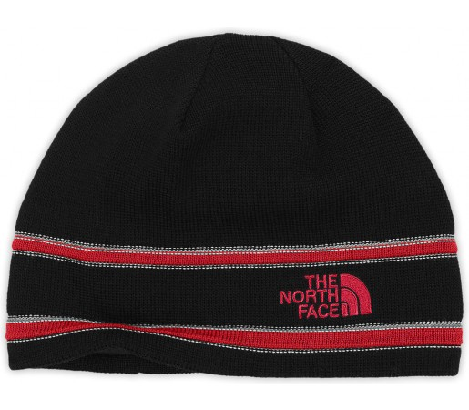 Caciula The North Face Logo Beanie Black/Red