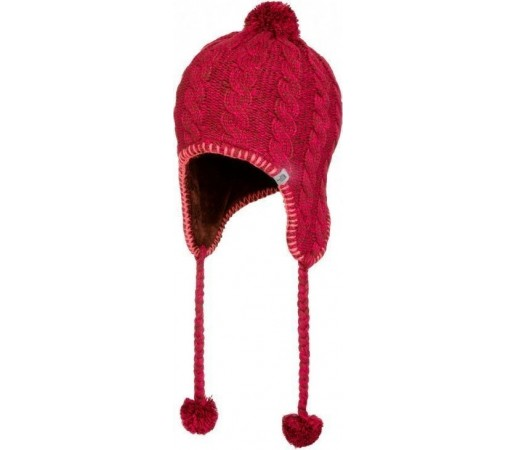 Caciula The North Face Fuzzy Earflap Sequoia Red/Cerise Pink