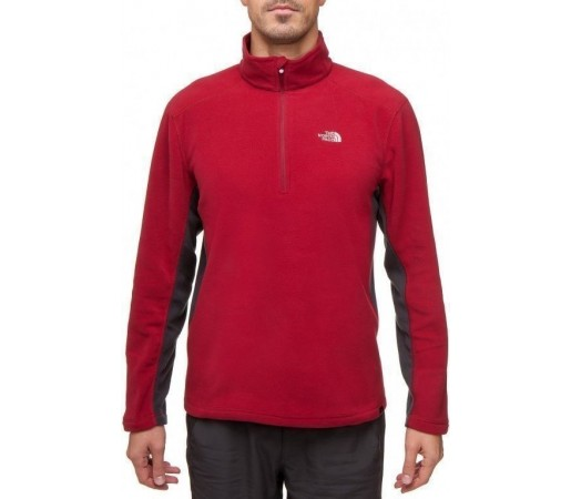 Bluza The North Face M's 100 Khyber 1/4 Rosu 2013