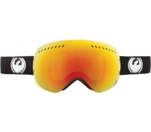 Ochelari Schi si Snowboard Dragon APX Inverse Negru/ Red Ion + Yellow Blue Ion