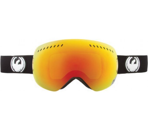 Ochelari Schi si Snowboard Dragon APXS Inverse Negru/ Red Ion + Yellow Blue Ion