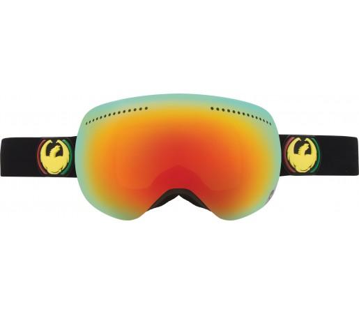 Ochelari Schi si Snowboard Dragon APX Rasta Negru/ Red Ion + Yellow Blue Ion