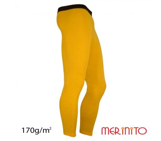 Pantaloni First Layer Merinito Lungi Galbeni