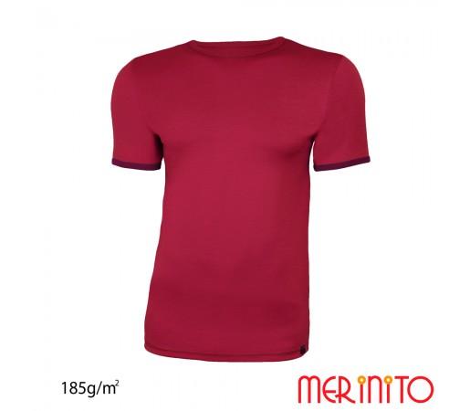 Tricou Merinito Barbati Visiniu/ Mov