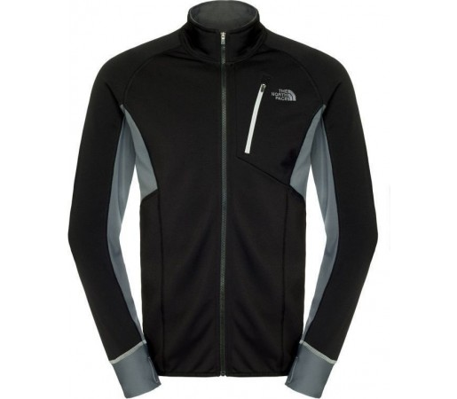 Mid Layer The North Face M Krypton Full Zip Black- Grey