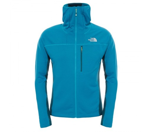 Polar The North Face M Super Flux Hoodie Albastru/Verde