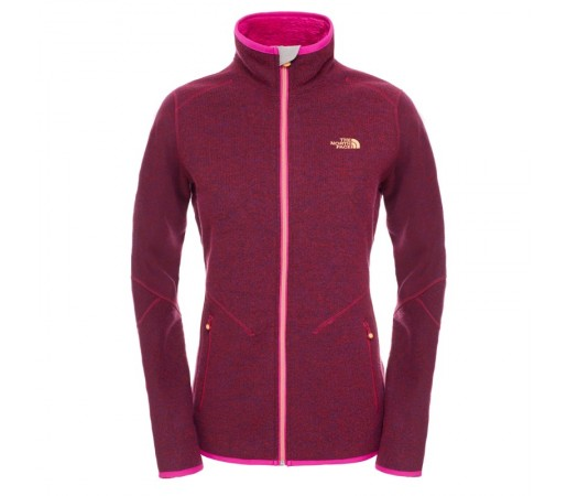 Bluza The North Face W Zermatt Full Zip Mov/Portocaliu