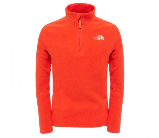Polar The North Face Y Glacier 1/4 Zip Rosu