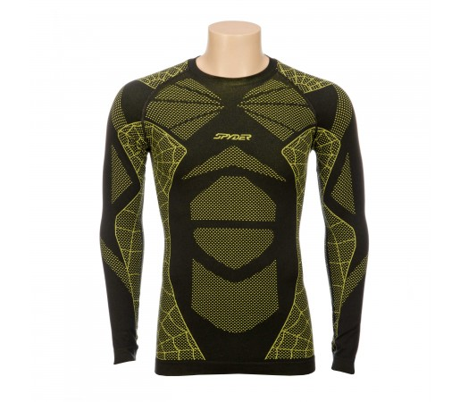 Bluza First Layer Spyder Captain (Boxed) Negru/Verde
