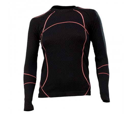 Bluza First Layer Spyder Olympian (Boxed) Negru/Roz