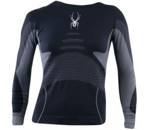 Bluza First Layer Spyder Runner Seamless Negru/Alb
