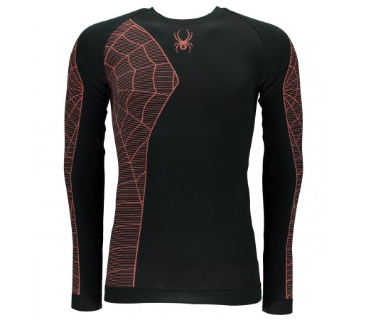 Bluza First Layer Spyder Skeleton (Boxed) Negru/Portocaliu