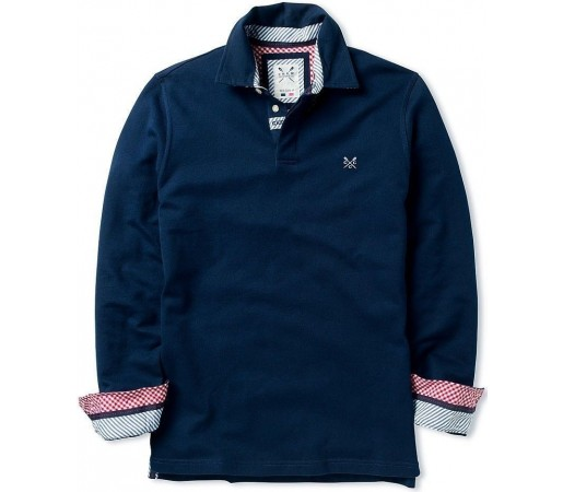Bluza Crew Clothing Branwell Rugby Navy