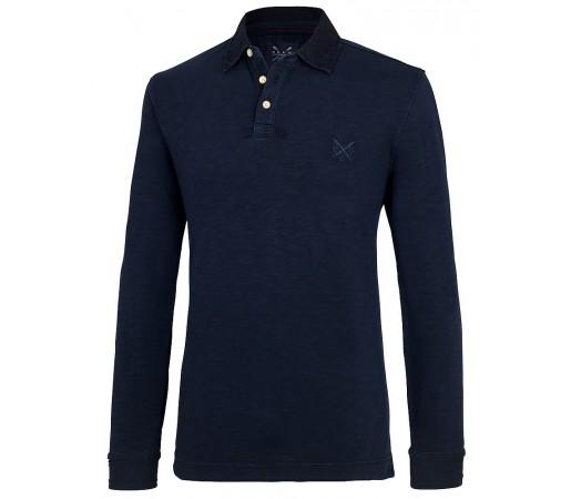 Bluza Crew Clothing Plympton Rugby Albastru Inchis