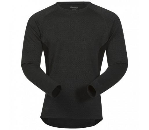 Bluza first layer Snoull Bergans Of Norway- 100%merino Wool Neagra
